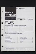 Pioneer F-5 Original Manuel de Service / Circuit Descriptions Réparation