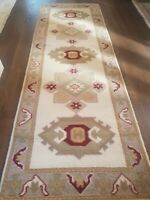 """New, Turkish Handmade  Wool Rug/Runner, Hand-knotted, double knotted -2'6""""x 7'8"""""""