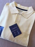 Mens Easy Care Cotton Performance Polo Shirt UPF15 - Yellow - 2XL/XXL