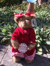 "The Bearington Collection Mandy Candymaker 15"" Collector Bear w/ Stand Christmas"
