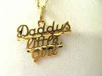 DADDY'S LITTLE GIRL 14K Gold Pendant 1.2gr VINTAGE
