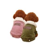 Dog Winter Warm Coat Luxury Jacket Puppy Clothes Pet Clothing Vest Cat Apparel