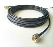 25' feet Coax Low Loss Cable RG58A/U Stranded Bare Copper UHF Male PL259 58B