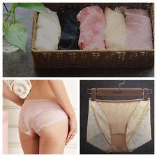 1X Ladies 100% Pure Silk Briefs Knit Panties Lace Underwear Knickers Lingerie