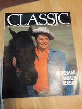 """Classic"" equine magazine, Ronald Reagan interview June/July 1977, racing"