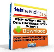 PHP-SCRIPT No. 11 Das Hackerschutz Script Tool Webmaster Software PC HP E-Lizenz
