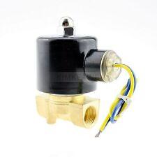 "12V DC 3/8"" Electric Solenoid Valve Water Gas Diesel"