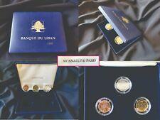 Monnaie de Paris FDC Lebanon 2000 Proof coins set 500, 250, 100, Livres Liban