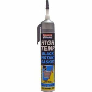 Granville High Temp Temperature Black Instant Gasket Silicone Sealant Can 200ml