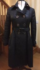 GENUINE BURBERRY Ladies Black PRORSUM RUNWAY Trench Coat UK Size 10