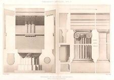 18 ~ MACDEDONIA PALACE Greece IONIC COLUMNS ~ 1905 Greek Architecture Art Print