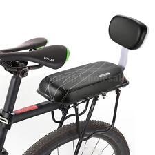 Bike Bicycle Back Seat PU Leather Soft Cushion Rear Rack Seat Back Rest U3N7