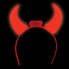 NEW LED Devil Horns Flashing Novelty Light-Up Headband