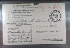 Camp Stalag VA Ludwigsburg 1941 POW Prisoner Belgium Kriegsgefangenenpost K8d