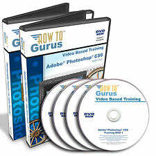 New Adobe Photoshop CS6 training plus Photoshop Photography Projects on 4 DVDs