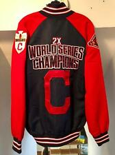 CLEVELAND INDIANS MLB WORLD SERIES PATCHES GAME JACKET SZ LARGE G-III SPORTS NWT