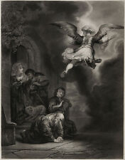 Rembrandt: Engel verläßt Tobias, 1875, 67 x 52 cm A+E Varin Goupil Knoedler