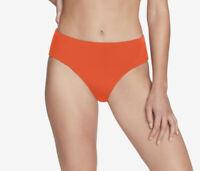 NWD Robin Piccone Women's Ava High Waist Bikini Bottom Orange Size M