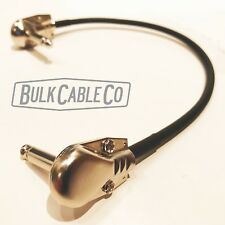 """MOGAMI 2319 12"""" PEDALBOARD PATCH CABLE - PATCH CORD - RA/RA PANCAKE CONNECTORS"""