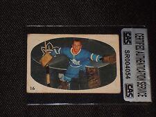 HOF JOHNNY BOWER 1962-63 PARKHURST SIGNED AUTOGRAPHED CARD #16 CAS AUTHENTIC