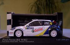 1:43 Minichamps Ford Focus RS WRC, Neste Rally Finland 2003 Winners Maertin/Park