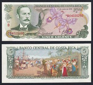 Costa Rica 5 colones 1992 FDS-/UNC-  C-06
