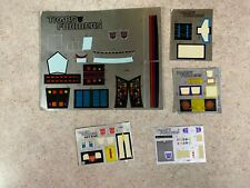 Hasbro 1980's Vintage G1 Transformers Partially Sticker Sheets Decals Lot #3