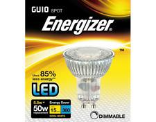 x 5 Energizer 5.5w (=50w) LED GU10 Glass Spotlight Bulb 36°- Cool White (4000k)