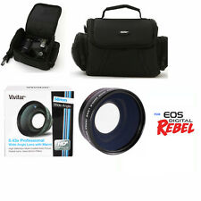 58MM WIDE ANGLE LENS + CARRYING BAG CASE BAG FOR CANON EOS REBEL T1I T2I T3I T4I