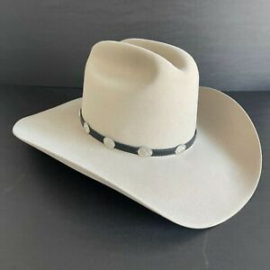 Stetson 4x Beaver Grant Silver Belly Cowboy Western Hat, Size 6 3/4 R