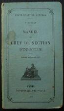 Manuel du chef de section d'infanterie - Edition de janvier 1917 / Guerre 14-18