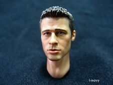K-HOBBY 1/6 HOT FIGURE HEAD SCULPT BRAD PITT TOYS OCEAN ELEVEN FIGHT CLUB RUSTY