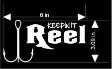 Fish Sticker   KEEPN IT REEL  MANY COLORS AVAILABLE Free US ship