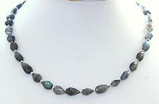 labradorira CADENA,cadena de piedras preciosas,Labradorita,collar Hermoso 44cm,