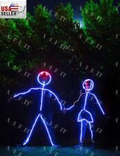 Super LED Costume Illuminated Strips - Male/Female, Children USA STICK FIGURE