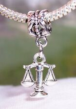 Scales Justice Lawyer Legal Zodiac Libra Dangle Bead for European Charm Bracelet