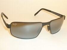 Brand NEW Authentic Polarized  MAUI JIM  CASTAWAY Sunglasses Matte Black 187-02M