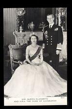 r4098 - Queen Elizabeth & Duke of Edinburgh at the Palace - Tuck's postcard