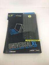 M Edge 9-10 inch Universal XL Folio Bluetooth Keyboard for Apple ipad Samsung *