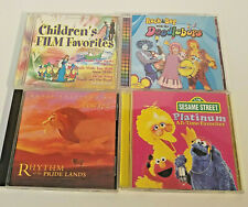 4 Kids Music CDs Childrens Party Songs Sesame Street, Lion King, Doodlebops Film
