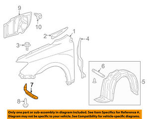 Scion TOYOTA OEM tC-Fender Liner Pad Air Deflector Spolier Right 5385121020