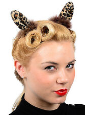 Cute LEO EAR Pin Up Ohren Fake Fur Rockabilly Retro 50s Haarschmuck Haarspange