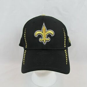 NFL Saints Men Baseball Hat Cap Flex Fit L/XL Black