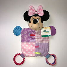 Disney Baby Minnie Mouse Crinkle Lovey Security Blanket Tactile Teether New Tag