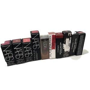 LOT Of 10 Luxury lipsticks NARS HUDA MAC READ*