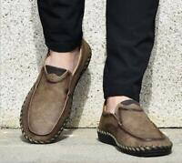 Leather Solid Color Pull On Men Shoes Gommino Low-top Shoes Slip On Loafers New