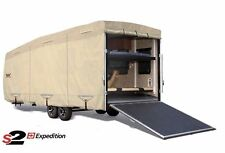S2 Expedition Premium Toy Hauler RV Trailer Cover - Fits 21' - 22' Length - Tan