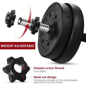 30kg Dumbbell Weight Set Adjustable Solid Fitness Gym Exercise Training Tools