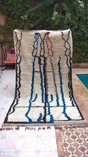Genuine 100 % Beni Ourain Rug 10 Ft 8 X 6 Ft Moroccan Rug Handmade Azilal Wool