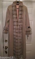 Alorna NWT Womens Hazel Color Lambs Wool Long Jacket Coat Size 4